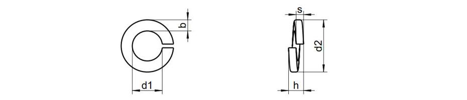 DIN127 Titanium Spring Lock Washers