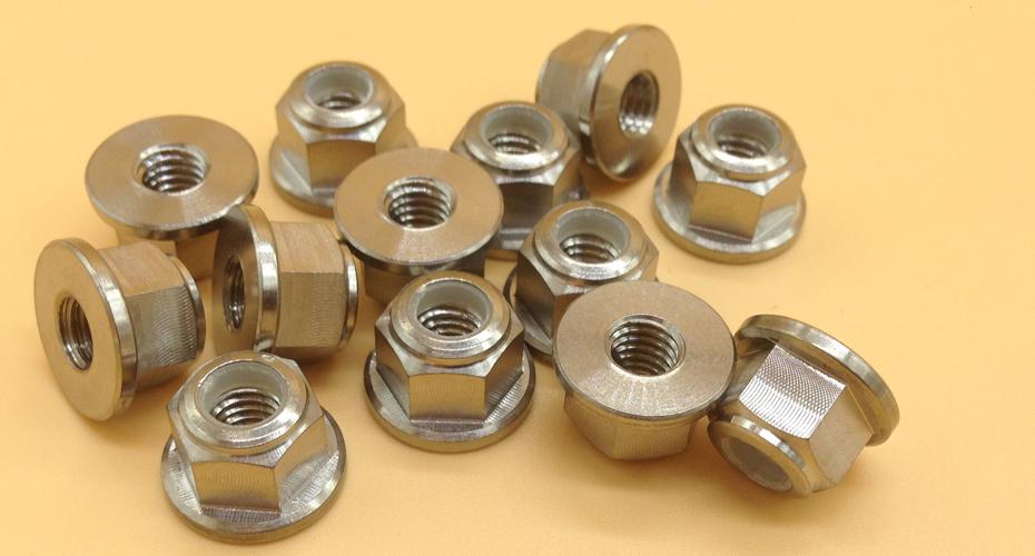 DIN6926 Titanium Hex Flange Head Nylon Lock Nuts