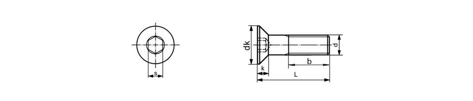 DIN7991 Titanium Hexagon Socket Countersunk Head Cap Screws