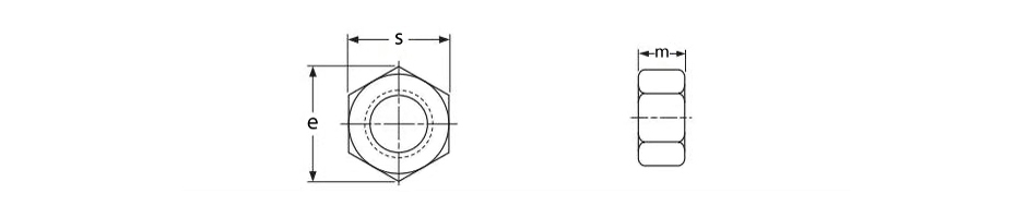 DIN934 titanium hexagon nuts