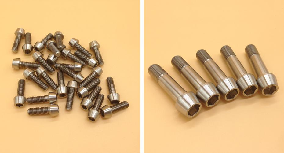 Titanium Bolts M5x16 20 22 30 35 40 mm Cone Tapered Socket Screw Allen Head Bike