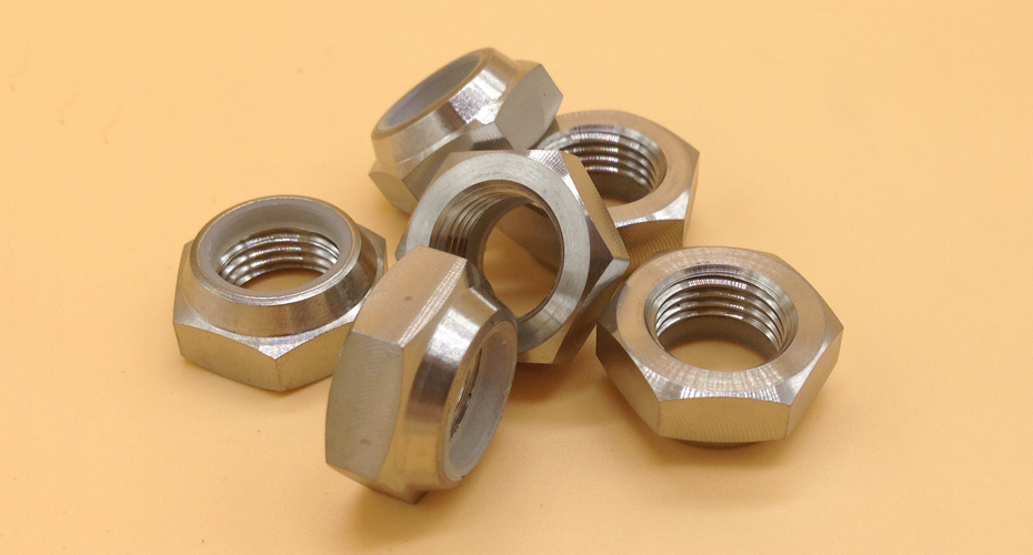 Titanium Hex Nylon Lock Jam Nuts