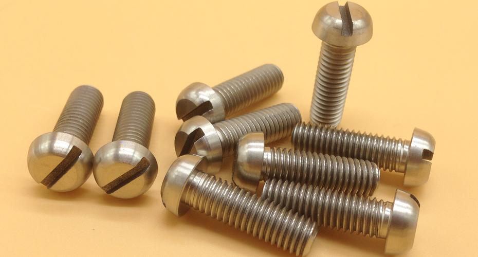 Titanium Slotted Pan Head Screws