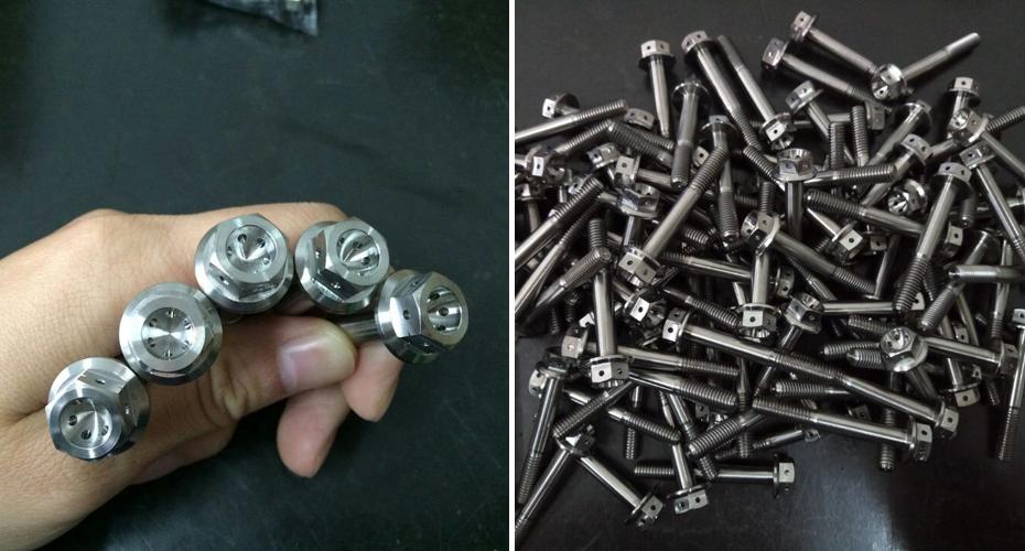 Titanium M10 x 1.25 x 30mm Fine Hex Flange Head Triumph Brake Calliper Bolts